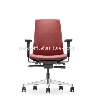 HUGO EXECUTIVE LOW BACK LEATHER CHAIR WITH ALUMINIUM DIE-CAST BASE AHG 6212L