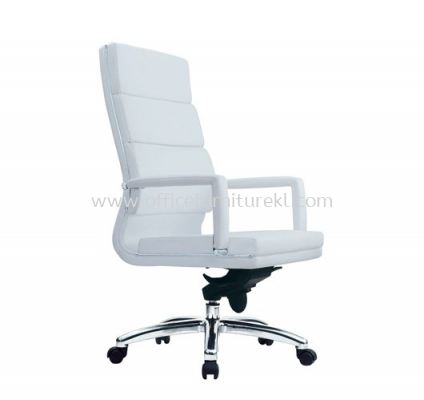 QUODRO (A) EXECUTIVE HIGH BACK CHAIR WITH CHROME TRIMMING LINE