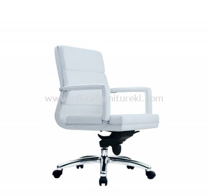 QUODRO (A) EXECUTIVE LOW BACK CHAIR WITH CHROME TRIMMING LINE