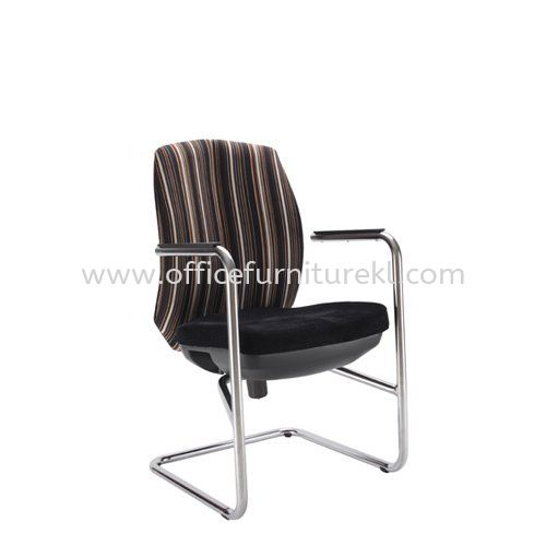 LINEAR EXECUTIVE VISITOR FABRIC CHAIR WITH CHROME CANTILEVER BASE ACL 6556