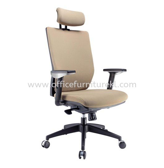 INFLORA 1 EXECUTIVE HIGH BACK FABRIC CHAIR WITH NYLON ROCKET BASE