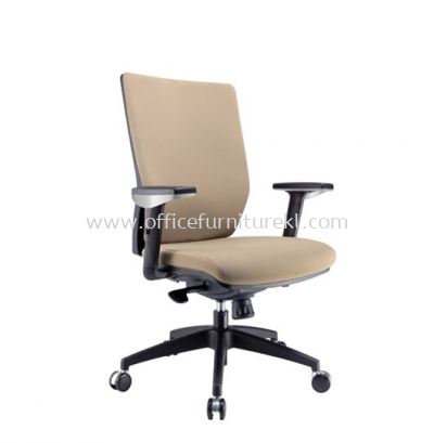 INFLORA 1 EXECUTIVE MEDIUM BACK FABRIC CHAIR WITH NYLON ROCKET BASE