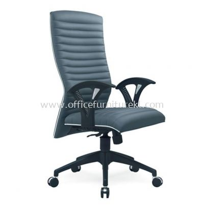 ZINGER 3 EXECUTIVE HIGH BACK FABRIC CHAIR WITH CHROME TRIMMING LINE