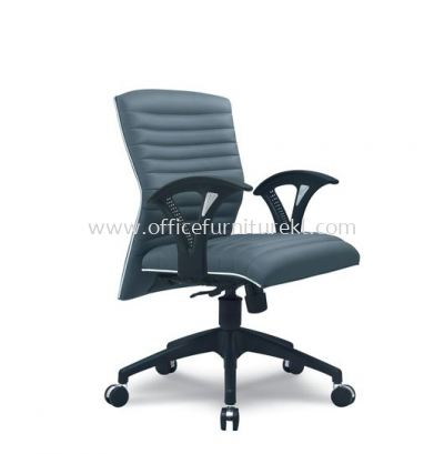 ZINGER 3 EXECUTIVE LOW BACK CHAIR WITH CHROME TRIMMING LINE
