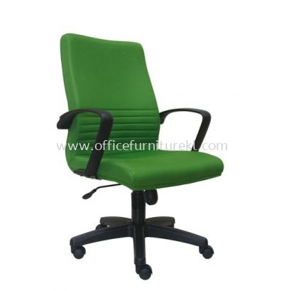 DEMO STANDARD MEDIUM BACK FABRIC CHAIR WITH POLYPROPYLENE BASE