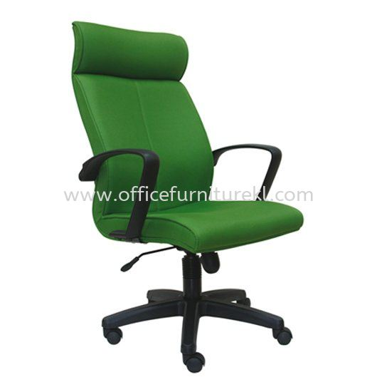 FUSION STANDARD HIGH BACK FABRIC CHAIR WITH POLYPROPYLENE BASE