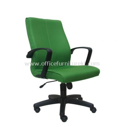 FUSION STANDARD MEDIUM BACK FABRIC CHAIR WITH POLYPROPYLENE BASE