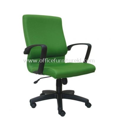 ECO STANDARD MEDIUM BACK FABRIC CHAIR WITH POLYPROPYLENE BASE ASE 222