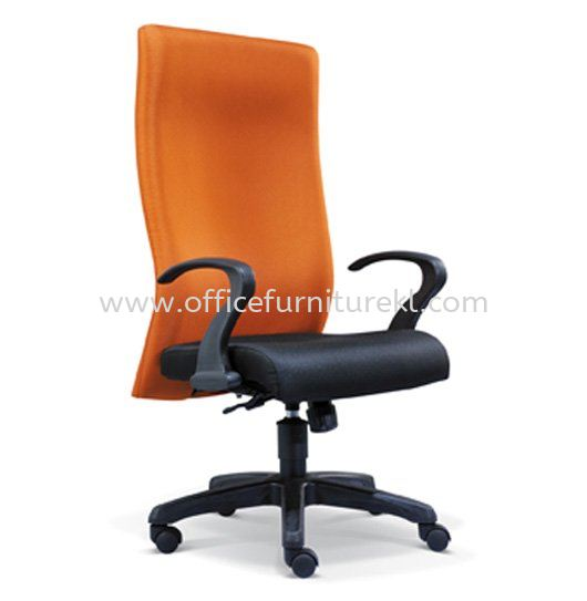 DERIT STANDARD HIGH BACK FABRIC CHAIR WITH POLYPROPYLENE BASE