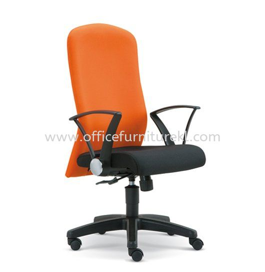 MUSS STANDARD MEDIUM BACK FABRIC CHAIR WITH POLYPROPYLENE BASE