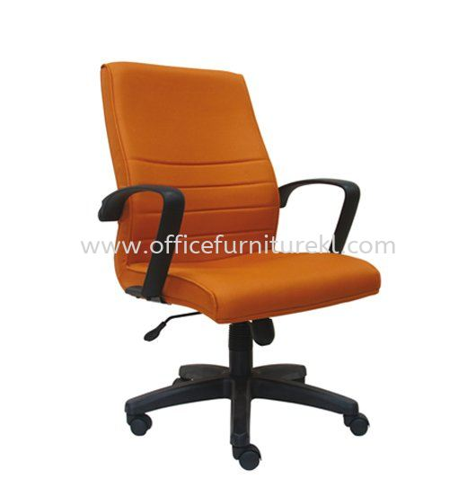 PLUS STANDARD MEDIUM BACK FABRIC CHAIR WITH POLYPROPYLENE BASE