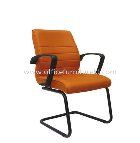 PLUS STANDARD VISITOR FABRIC CHAIR WITH EPOXY BLACK CANTILEVER BASE