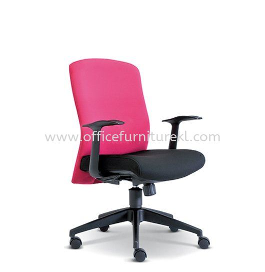 SKILL STANDARD LOW BACK FABRIC CHAIR WITH NYLON ROCKET BASE ASE 2193