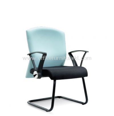 MOSIS STANDARD VISITOR FABRIC CHAIR WITH EPOXY BLACK CANTILEVER BASE