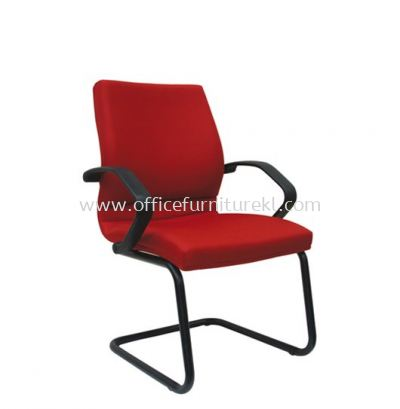 VIPSA STANDARD VISITOR FABRIC CHAIR C/W EPOXY BLACK CANTILEVER BASE