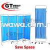【 RM339.00】4 Section Stainless Steel Ward Screen Curtain Movable Foldable Hospital Bed Panels Medical Supplies Health & Beauty