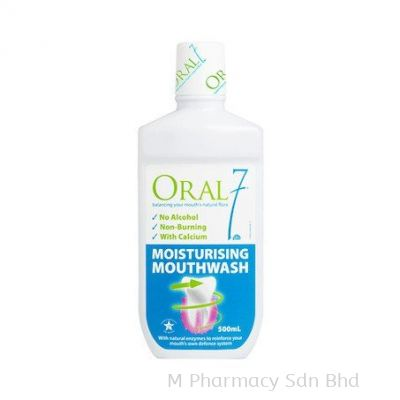 ORAL7 MOISTURISING MOUTHWASH 500ML