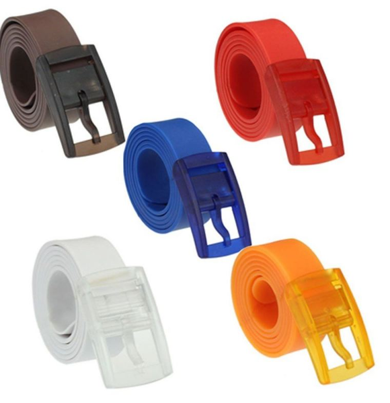 Unisex Silicone Belts - One Size Fits All - Waterproof - Soft and Durable!