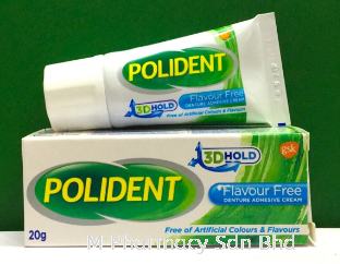 Polident Adhesive Flavour Free Denture Adhesive Cream 20g