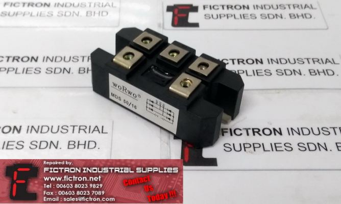 MDS50 16 MDS5016 FICTRON Bridge Rectifier Module Supply Malaysia Singapore Indonesia USA Thailand