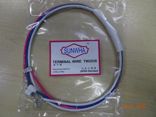 SUNWHA TW2530 2.0HP TO 3.0HP TERMINAL WIRE (3 PIECE) (JAPANESE STANDARD)