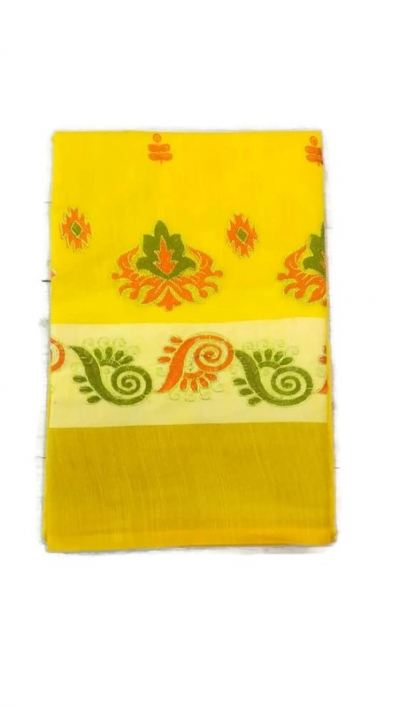 COTTON SILK EMBROIDED SAREE