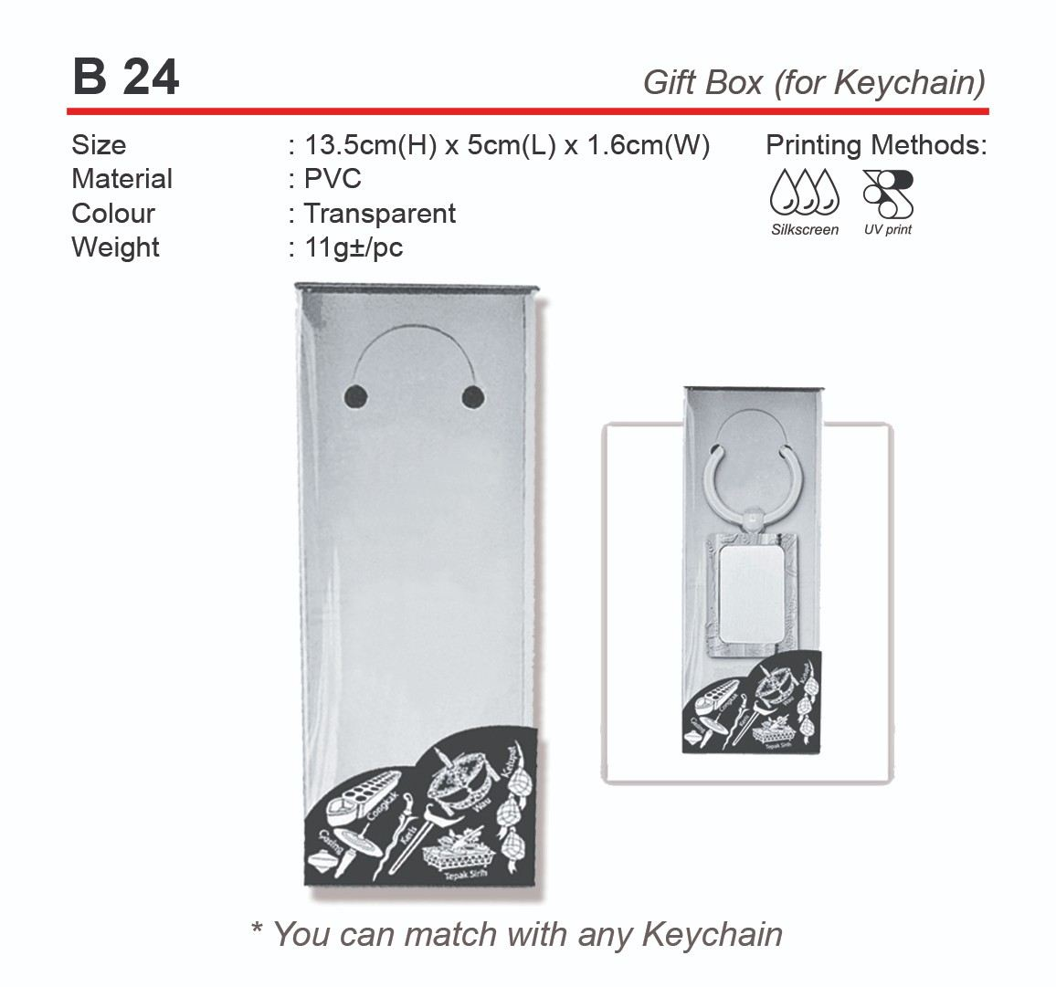 B24 Gift Box for Keychain