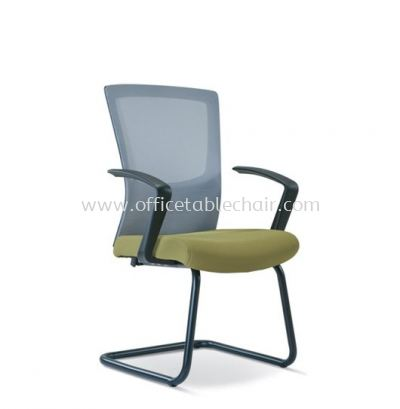 VICTORY VISITOR MESH CHAIR WITH EPOXY BLACK CANTILEVER BASE ASE 2687