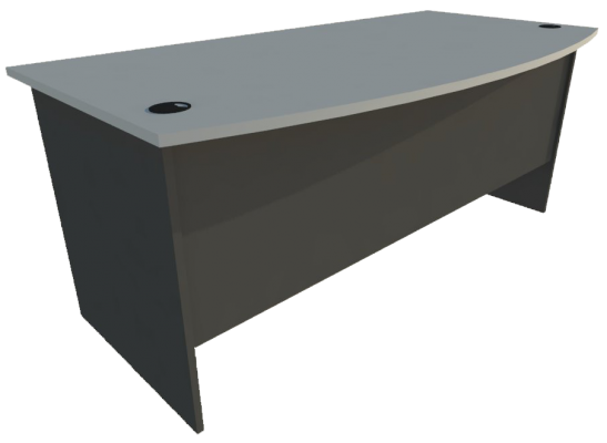 Writing Table D-Shape (Grey + Graphite)