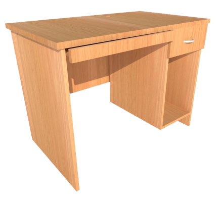 Computer Table (Full Beech)