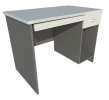 Computer Table (Grey + Graphite) Computer Table Table Loose Furniture