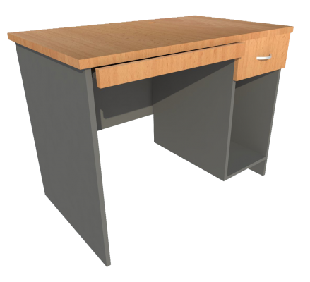 Computer Table (Beech + Graphite)