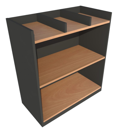 Low Cabinet File Tray (Beech + Graphite)