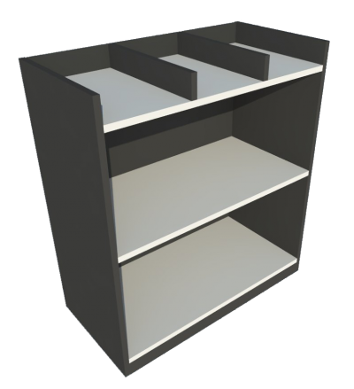 Low Cabinet File Tray (Grey + Graphite)
