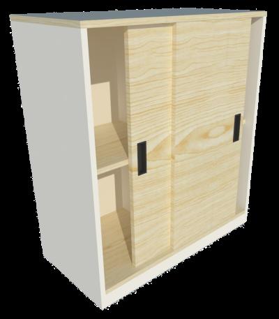 Low Cabinet Sliding Door (Maple + White)