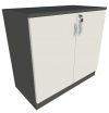 Low Cabinet Swing Door (Grey + Graphite) Low Cabinet Swing Door Cabinets Loose Furniture