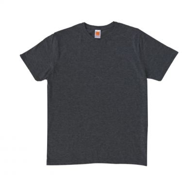 CT6076 Dark Grey Oren Sport Cotton Round Neck Short Sleeve Plain Tee