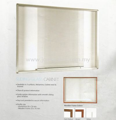 Sliding Glass Cabinet