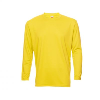 QD5404 Yellow Oren Sport Quick Dry Round Neck Long Sleeve WHITE