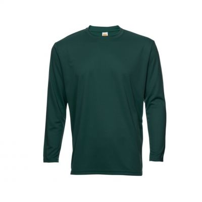QD5415 Forest Green Oren Sport Quick Dry Round Neck Long Sleeve WHITE