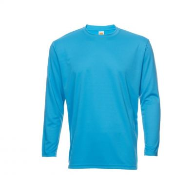 QD5428 Sea Blue Oren Sport Quick Dry Round Neck Long Sleeve WHITE