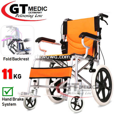 ��RM173.90�� GT MEDIC GERMANY Ultra Lightweight Wheelchair Foldable Travel Transport Wheel Chair / Kerusi Roda Ringan