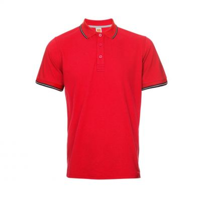QD5305 Red Oren Sport Quick Dry Collar Short Sleeve