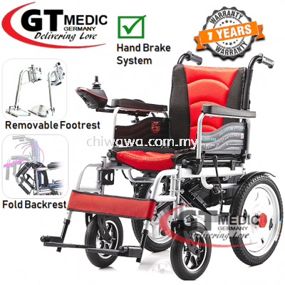 ��RM 2,359.00��GT MEDIC GERMANY Lightweight Electric Wheelchair Foldable Travel Transport Auto Motor Wheel Chair / Kerusi Roda Elektrik