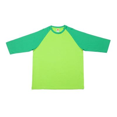 CT5613 Milo Green with Lime Green Oren Sport Cotton Round Neck Long Sleeve