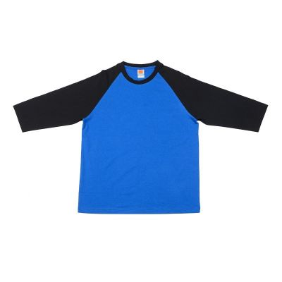 CT5608 Royal with Black Oren Sport Cotton Round Neck Long Sleeve