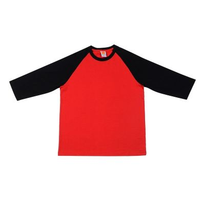 CT5605 Red with Black Oren Sport Cotton Round Neck Long Sleeve