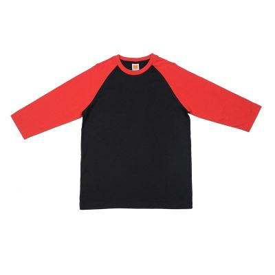 CT5602 Black with Red Oren Sport Cotton Round Neck Long Sleeve