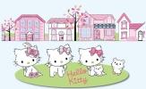 Hello Kitty Wall Mural