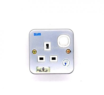 METAL 1 GANG SWITCH SOCKET